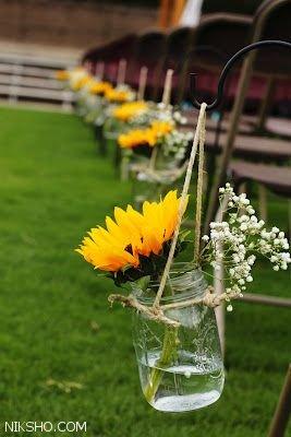 تزیینات لاکچری مراسم عقد و عروسی با گل آفتابگردان