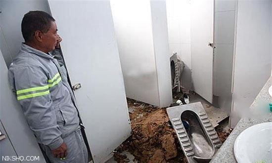 زن صیغه ای جنین خود را در توالت سقط کرد +عکس