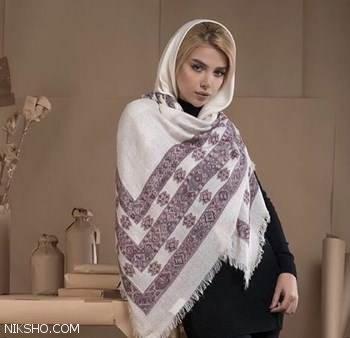 زیباترین مدل های شال و روسری شیک با طرح های عالی