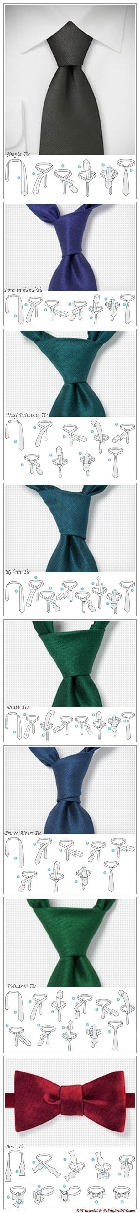 آموزش تصویری بستن و گره زدن کراوات بصورت آسان