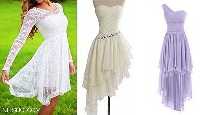 انواع مدل های لباس مجلسی پشت بلند شیک