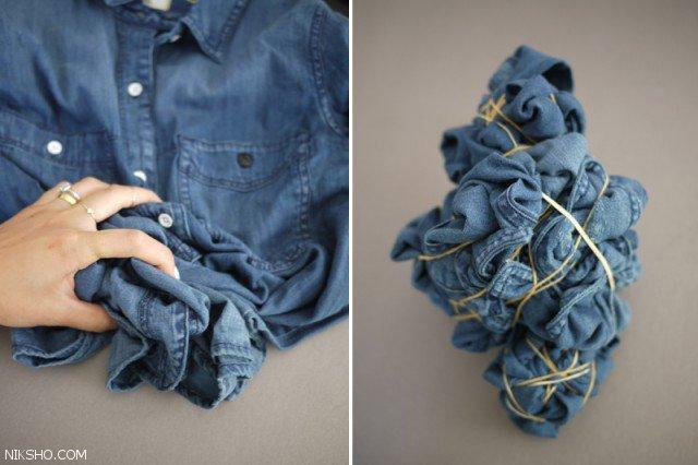 آموزش تصویری ابر و بادی کردن لباس های جین