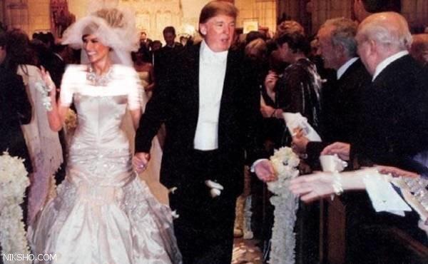 تصاویر دیده نشده از مراسم عروسی ملانیا و دونالد ترامپ