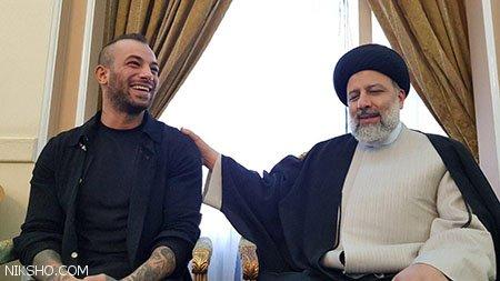 امیر تتلو با رئیسی دیدار کرد +خوانندگی تتلو در برج میلاد