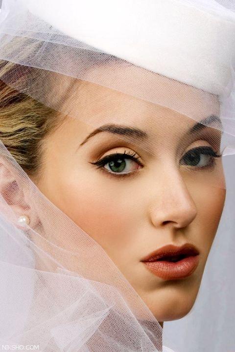 مدل آرایش عروس ملایم زیبا و بسیار جذاب