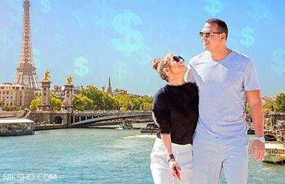 سفر عاشقانه و لوکس جنیفر لوپز و نامزدش به فرانسه