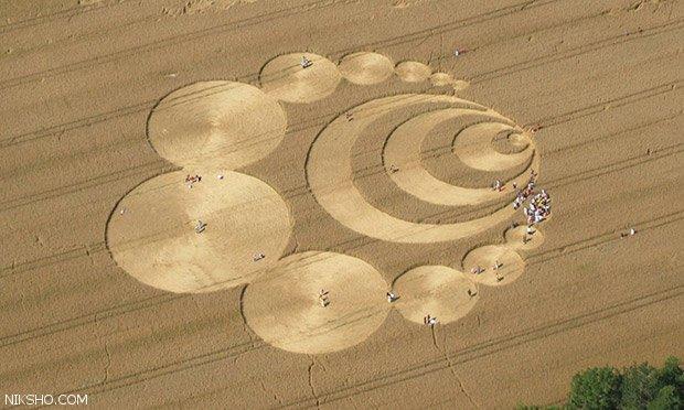 راز اشکال هندسی عظیم در کشتزارها کشف شد