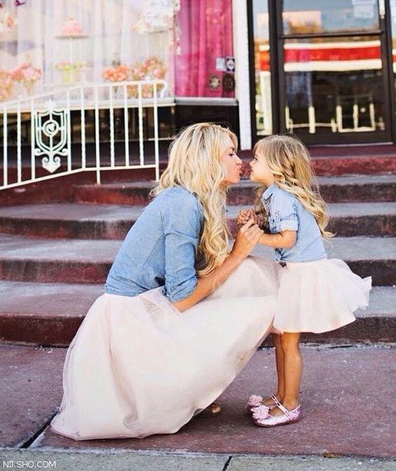 عکس های دیدنی مادر و دختر، ست لباس مادر و دختر