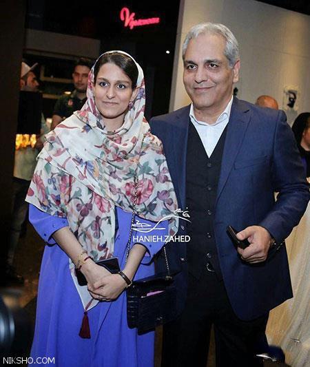 مهران مدیری و دخترش در اکران ساعت 5 عصر