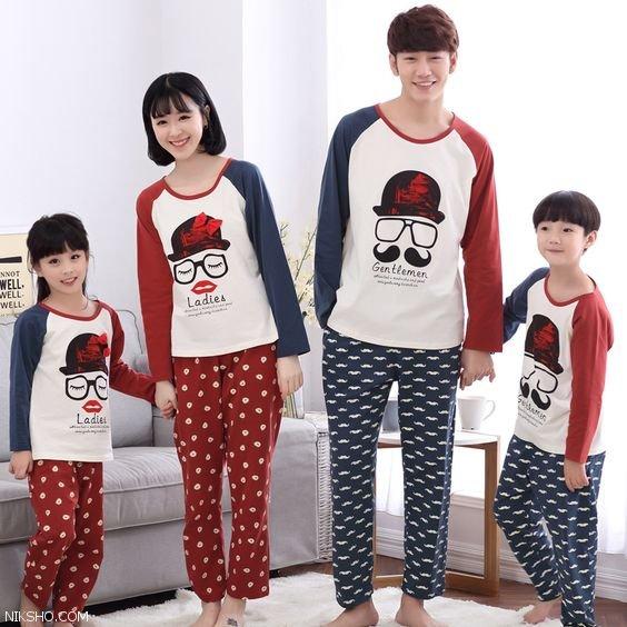 ست لباس خواب پدر و مادر و کودکان بسیار زیبا و شیک