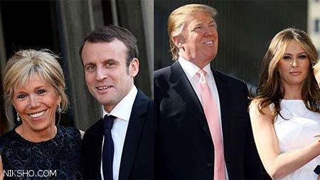 حرف های جنجالی ترامپ درباره اندام بانوی اول فرانسه