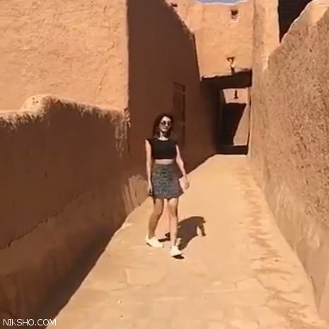 دختر دامن کوتاه در عربستان جنجال به پا کرد +عکس