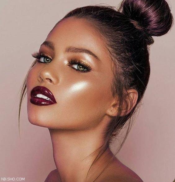 آرایش لب و رنگ رژ لب داغ برای پوست تیره و روشن