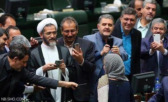 سلفی های جلف نمایندگان مجلس ایران با موگرینی