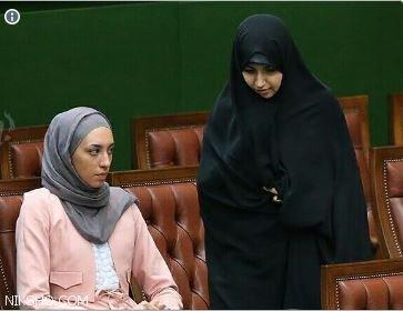 عکس دیده نشده کیمیا علیزاده و دختر حسن روحانی در مراسم تحلیف