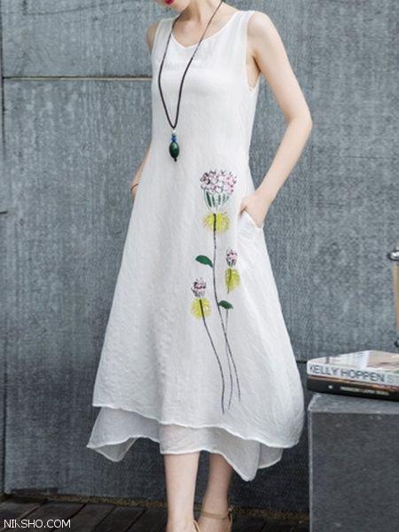 عکس لباس مجلسی با دامن بلند شیک و جدید 2020
