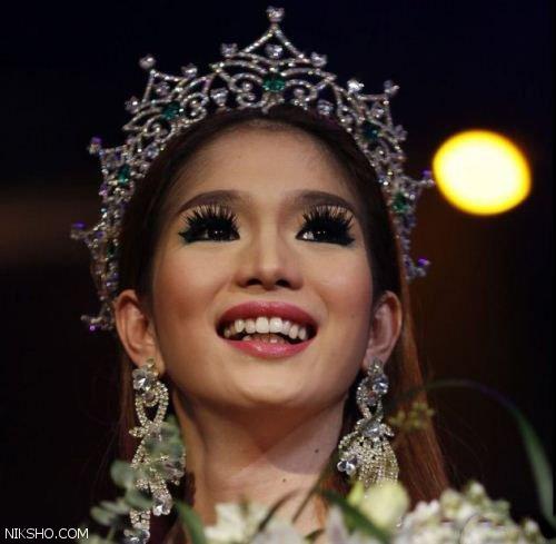 دختر زیبای 21 ساله برنده مسابقات ملکه زیبایی دوجنسه ها شد