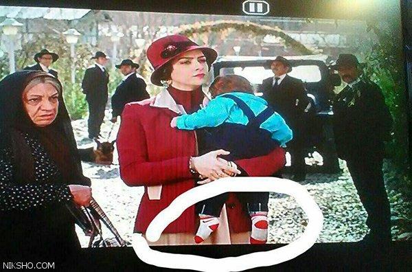 گاف جوراب نایک ترانه علیدوستی و دخترش سریال شهرزاد
