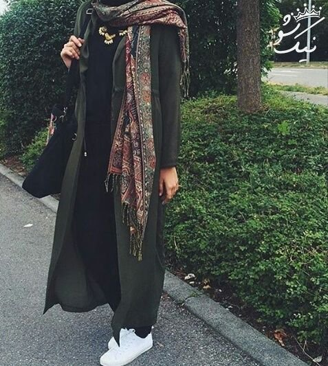 مدل لباس دخترانه پاییزی با حجاب کامل و شیک