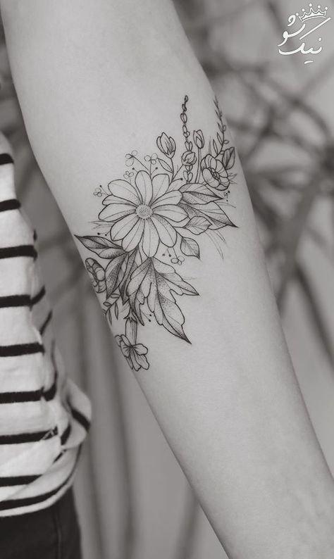 خالکوبی دخترونه دست و پا و گردن و بدن +طرح خالکوبی زیبا