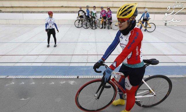 دستفروشی آتوسا عباسی رکورددار دوچرخه سواری ایران