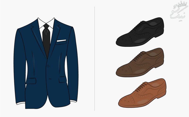 راهنمای ست کردن کفش ها با رنگ کت و شلوار