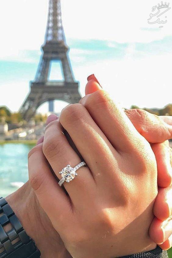 عکس حلقه ازدواج بسیار زیبا و لوکس +حلقه نامزدی