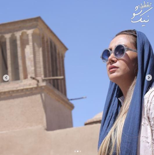 همراه با بهاره افشاری بازیگر نقاش و طراح لباس ایرانی +عکس