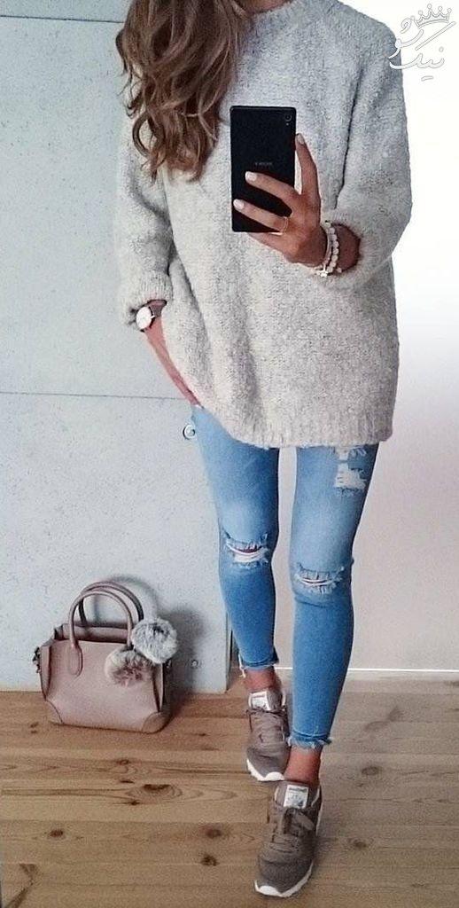 شیک ترین مدل های لباس اسپرت پاییز و زمستانی دخترانه