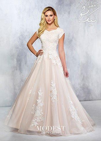 شیک ترین مدل های لباس عروس گیپور برند Mon Cheri