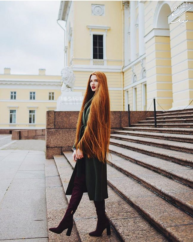 این دختر روس جذاب ترین و بلندترین موهای جهان را دارد