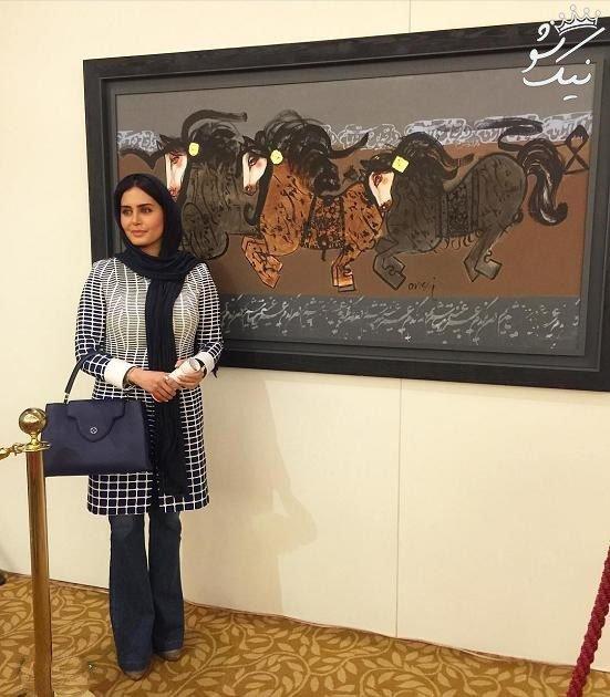 الناز شاکردوست و خرید تابلوی 135 میلیونی در حراجی تهران