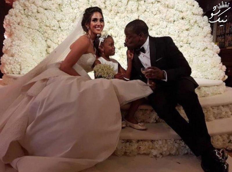ازدواج مجلل نازنین جعفریان مدل ایرانی و پسر سیاه پوست میلیاردر