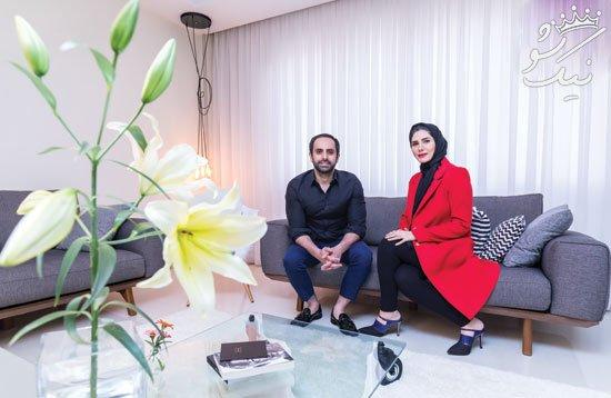 شیک ترین دکوراسیون مدرن زوجی در ولیعصر تهران