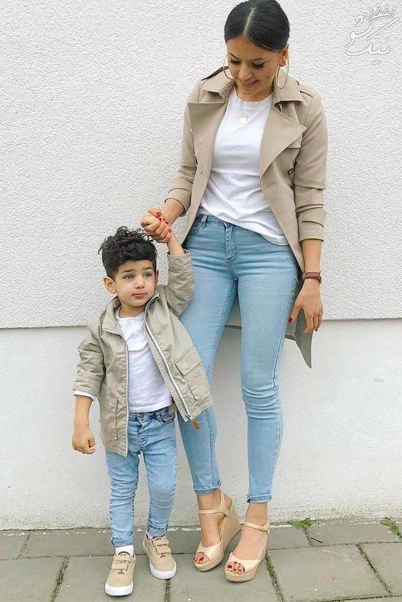 ست لباس مادر و دختر +ست لباس مادر و پسر