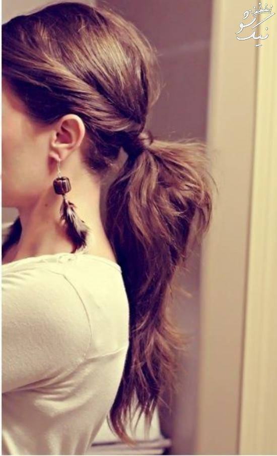 مدل موی دم اسبی دخترانه فوق العاده زیبا