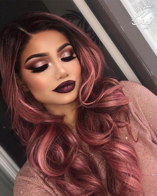 مدل مو رنگ رزگلد بی نظیر و جذاب و لاکچری