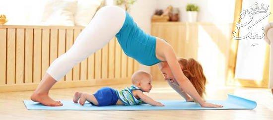 ورزش و تناسب اندام خانم ها بعد از زایمان