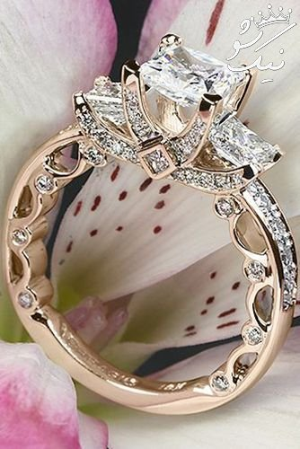 حلقه های ازدواج به رنگ زیبای رزگلد