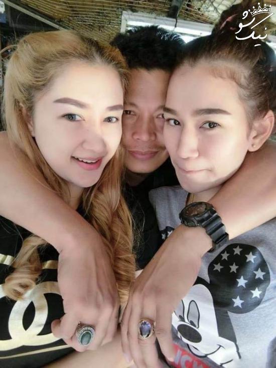 زندگی زناشویی این مرد با دو همسر زیبایش در یک خانه