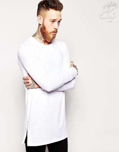 مدل های تیشرت لانگ مردانه