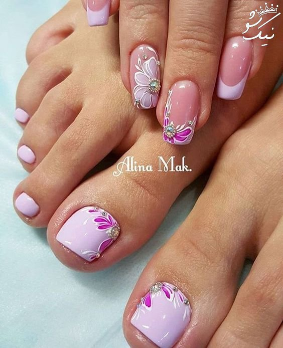 لاک ناخن پا ،طراحی و آرایش ناخن پا جذاب و شیک
