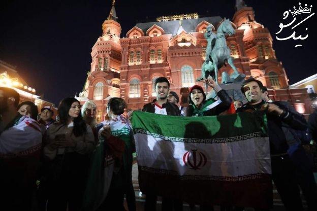 فوتبالیست ها و طرفداران زن و مرد ایرانی در روسیه +عکس