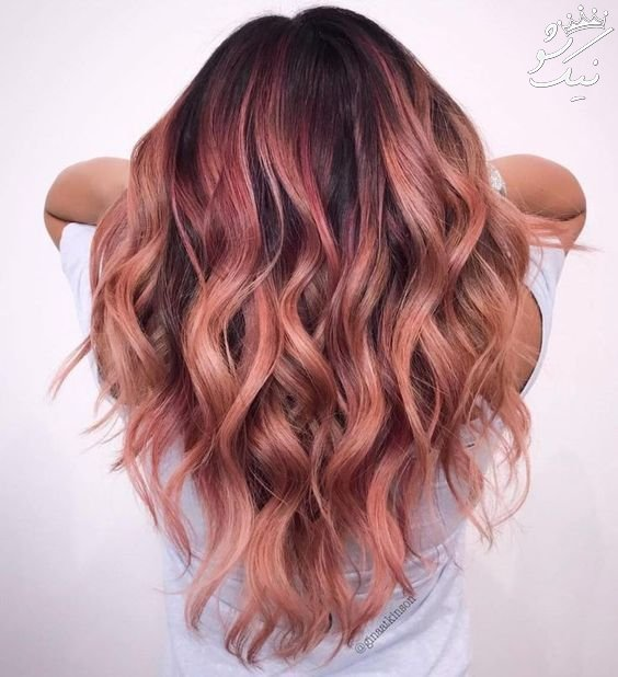 بهترین مدل های مو به رنگ رزگلد rosegold