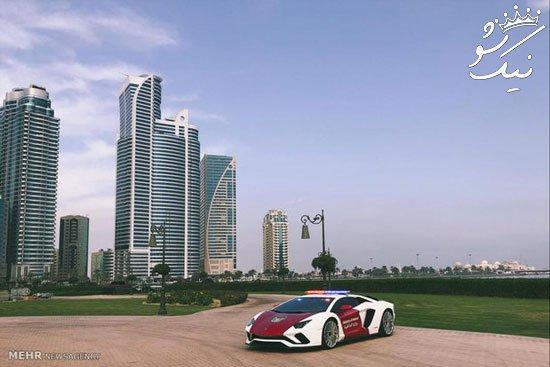 خودروهای لاکچری پلیس امارات | از بوگاتی تا لامبورگینی