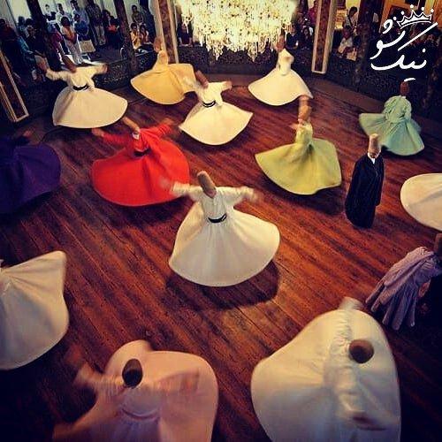 شعر مولانا چون ذره به رقص اندرآییم