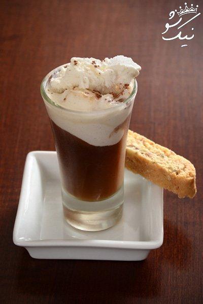 روش تهیه کوک گلاسه یا کولا فلوت با نوشابه و قهوه