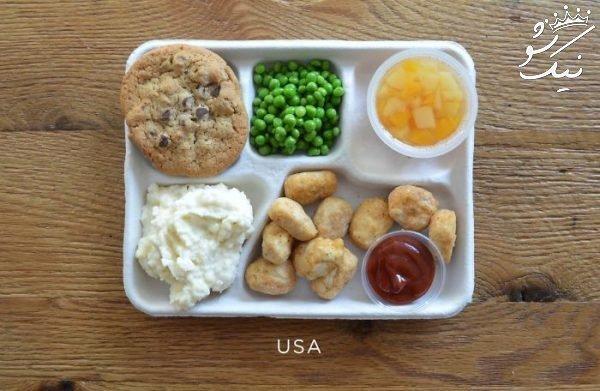 مقایسه وعده های غذایی دانش آموزان کشورهای مختلف