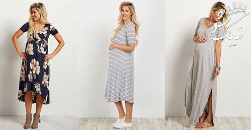 مدل لباس راحتی حاملگی   لباس بارداری شیک