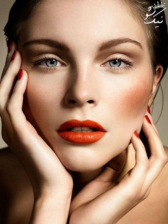 آرایش لب نارنجی مرجانی   رژلب مرجانی مد سال 2020